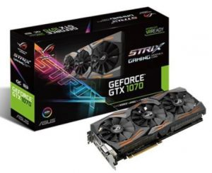 Karta graficzna do gier GeForce GTX 1070 STRIX 8G